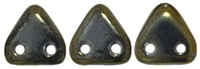 CzechMates Two Hole Trangles 6mm: CZT-21415 - Iris - Brown