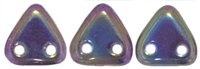 CzechMates Two Hole Trangles 6mm: CZT-21495 - Iris - Purple
