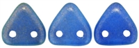 CzechMates Two Hole Trangles 6mm: CZT-29264 - Halo - Ultramarine