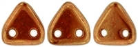 CzechMates Two Hole Trangles 6mm: CZT-B9004 - Sunset Maple