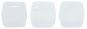 CzechMates Two Hole Tile 6mm Opaque White 25 Beads