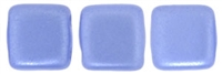 CzechMates Two Hole Tile 6mm - CZTWN06-25015 - Pearl Coat - Baby Blue - 25 Beads