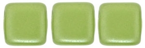CzechMates Two Hole Tile 6mm - CZTWN06-25034 - Pearl Coat - Olive - 25 Beads