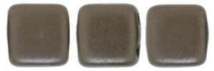 CzechMates Two Hole Tile 6mm - CZTWN06-25036 - Pearl Coat - Bistre - 25 Beads