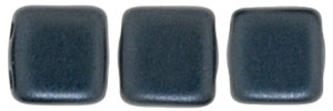 CzechMates Two Hole Tile 6mm - CZTWN06-25037 - Pearl Coat - Charcoal - 25 Beads