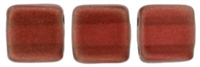 CzechMates Two Hole Tile 6mm - CZTWN06-29257 - Halo - Sangreal - 25 Beads