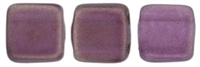 CzechMates Two Hole Tile 6mm - CZTWN06-29262 - Halo - Tyrian - 25 Beads