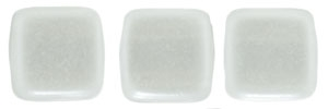 CzechMates Two Hole Tile 6mm - CZTWN06-63025 - Pearl Lights - Snow - 25 Beads