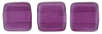 CzechMates Two Hole Tile 6mm - CZTWN06-63276 - Pearl Lights - Orchid - 25 Beads