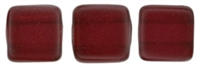 CzechMates Two Hole Tile 6mm - CZTWN06-63999 - Pearl Lights - Claret - 25 Beads