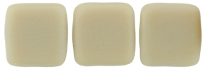 CzechMates Two Hole Tile 6mm - CZTWN06-M13070 - Matte - French Beige - 25 Beads