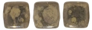 CzechMates Two Hole Tile 6mm - CZTWN06-MD13070 - French Beige - Moon Dust - 25 Beads