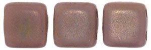 CzechMates Two Hole Tile 6mm - CZTWN06-MK43020 - Matte Rosaline Luster - 25 Beads
