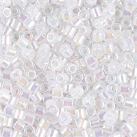 Miyuki Delica Seed Beads 8/0 5 Grams DBL0222 OPR White Pearl