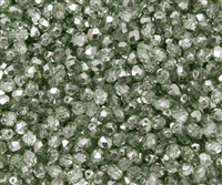 Firepolish 4mm: FP4-67525 - Crystal Sea Foam Metallic Ice - 25 pieces
