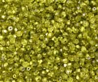 Firepolish 4mm: FP4-67819 - Crystal Citron Metallic Ice - 25 pieces