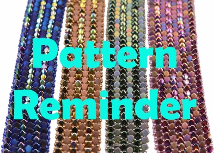 All Beads CZ Gekko Bracelet Pattern Reminder
