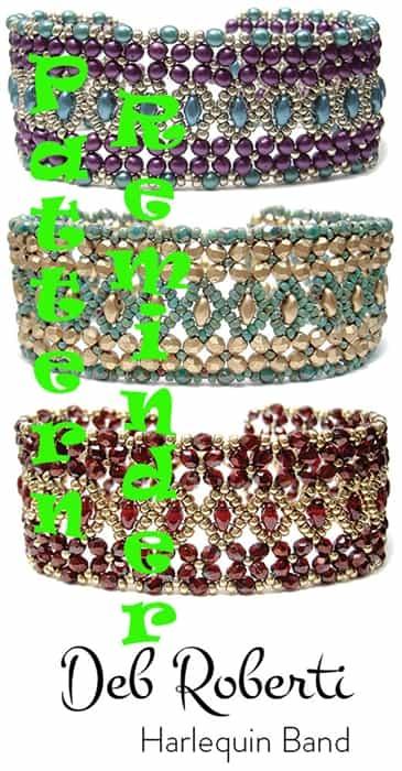 Deb Robertis Harlequin Band Bracelet Pattern Reminder
