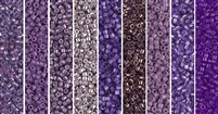 Amethyst Orchid Monday - Exclusive Mix of Miyuki Delica Seed Beads