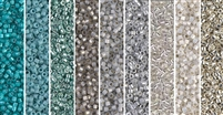 Grey Haze Monday - Exclusive Mix of Miyuki Delica Seed Beads