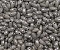 Grey Luster Czech Rizo Seed  Beads - 8 Grams