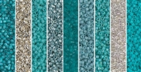 Turquoise Monday - Exclusive Mix of Miyuki Delica Seed Beads