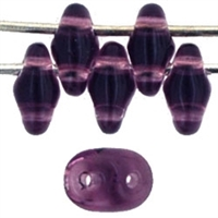 SuperDuo 2/5mm : 8 Grams - Medium Amethyst