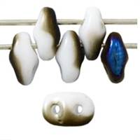 SuperDuo 2/5mm : 8 Grams - TSD-BR0300 - Blue Iris/Opaque White
