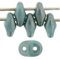 SuperDuo 2/5mm : 8 Grams - Moon Dust - Turquoise