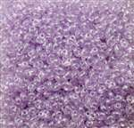 Twin Bead 2.5X5mm Crystal Pale Lilac Pearl - Approx 23 gram tube