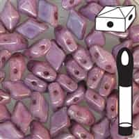 "VDD-CW15726 - DiamonDuoâ""¢ 2-Hole Beads - 5x8mm - Chalk Lumi Purple - 12 Gram Vial (approx 80 pcs)"