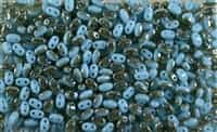 SUPERDUO BEADS 2.5x5mm 8 Grams BLUE TURQUOISE CELSIAN