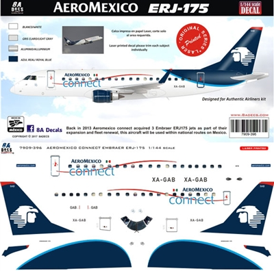 1:100 AeroMexico Connect Embraer 175