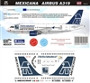 "1:144 Mexicana Airbus A.319 ""85th Anniversary"""