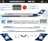 1:144 AeroMexico McDD MD-80
