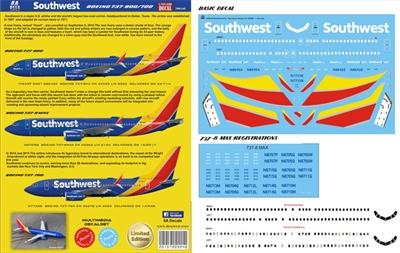 1:144 Southwest Airlines (2015 cs) Boeing 737-700, -800, -MAX8