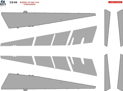 1:144 Boeing 757 Wing and Tail Corogard  Inspar Panels