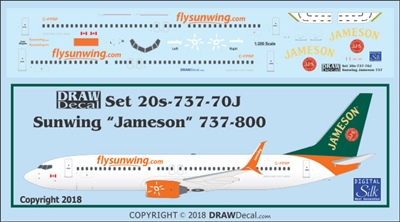 1:200 Sunwings 'Jameson' Boeing 737-800