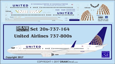 1:200 United Airlines Boeing 737-800
