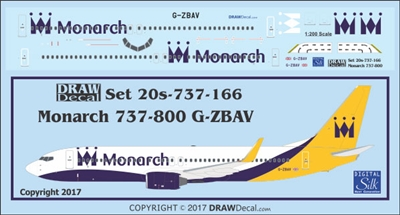 1:200 Monarch Airlines Boeing 737-800