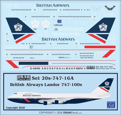 1:200 British Airways 'Landor' Boeing 747-100