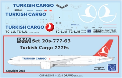1:200 Turkish Cargo Boeing 777-200F