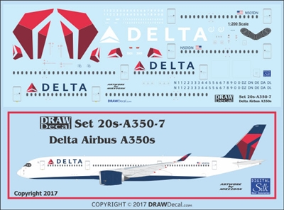 1:200 Delta Airlines Airbus A350-900