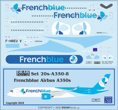 1:200 Frenchblue Airbus A.350-900