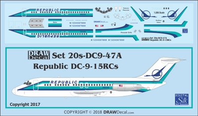 1:200 Republic Airlines Douglas DC-9-15RC