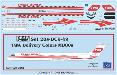 1:200 Trans World Airlines  McDD MD-80