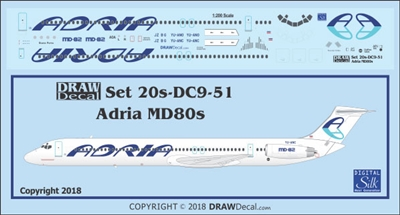 1:200 Adria Airlines McDD MD80