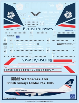 1:125 British Airways 'Landor' Boeing 747-100