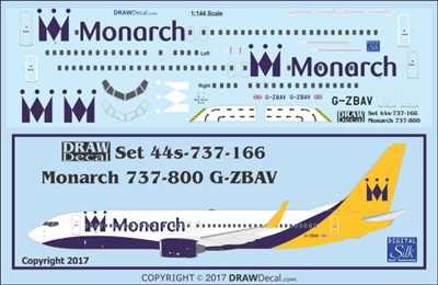 1:144 Monarch Airlines Boeing 737-800