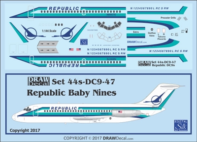 1:144 Republic Airlines Douglas DC-9-14/-15